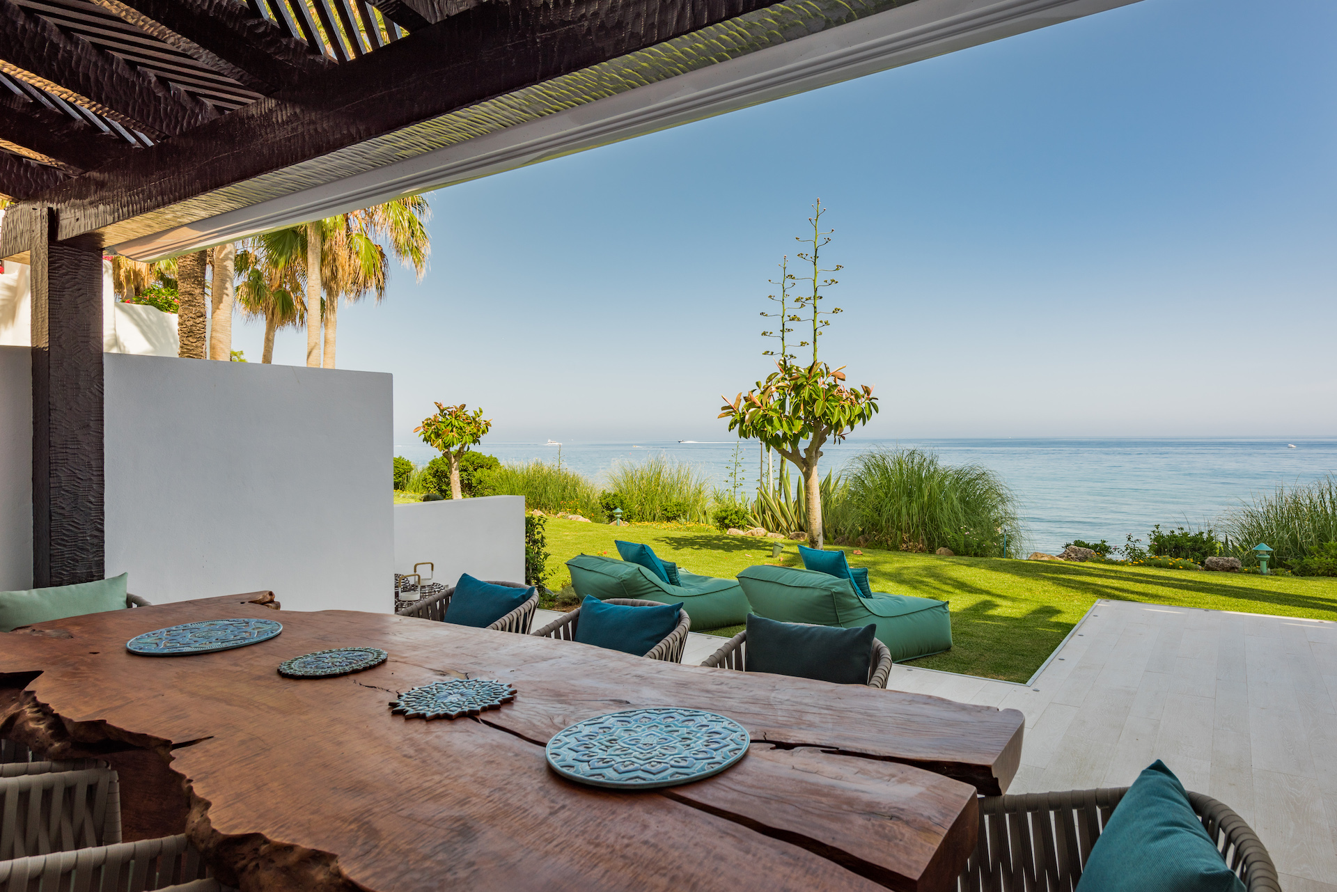 Frontline beach house in Marbella Spain