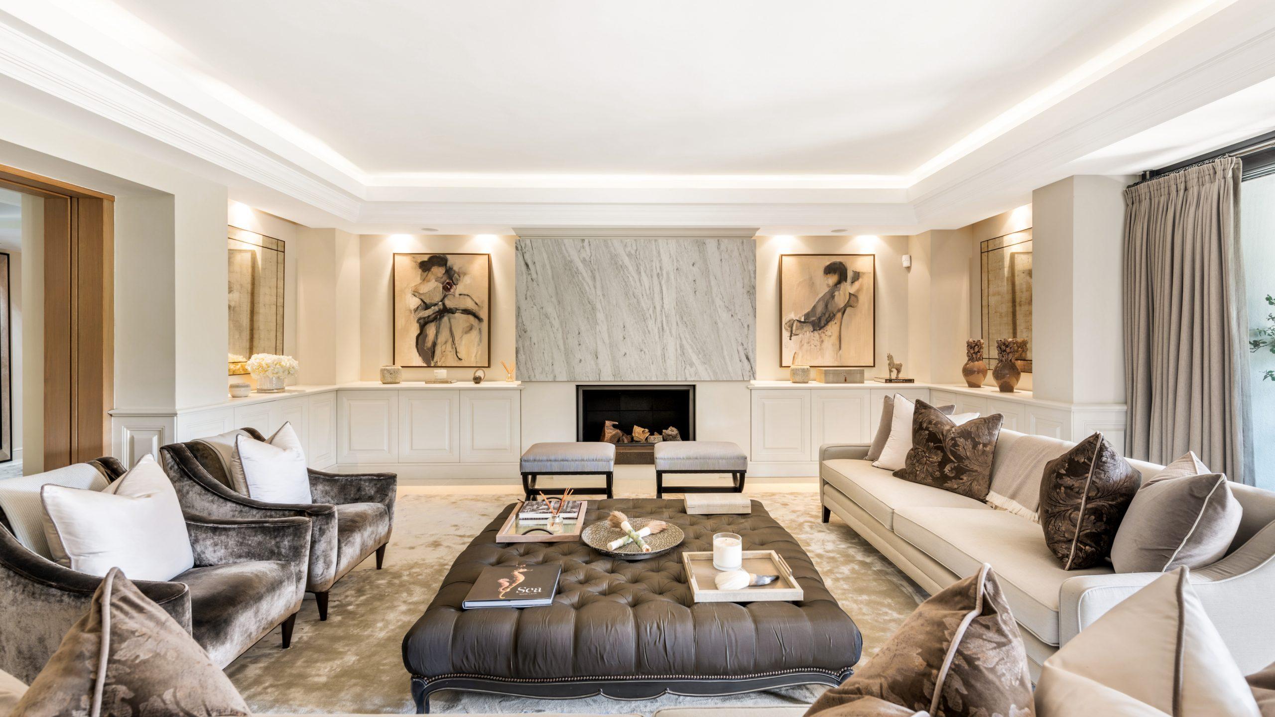 Salón de diseño moderno villa Amapola, Las Torres de Marbella Club