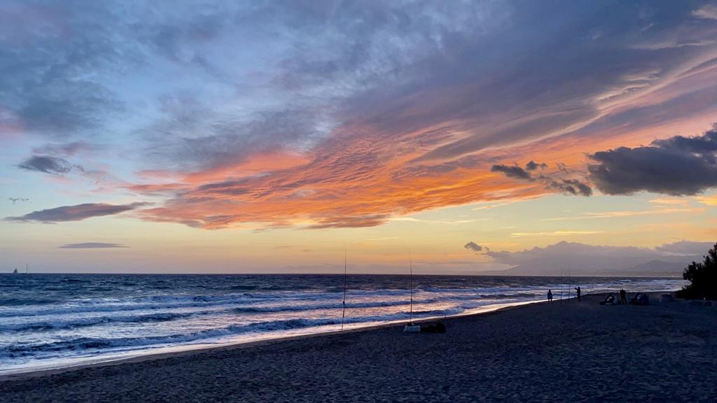 Marbella beach sunset